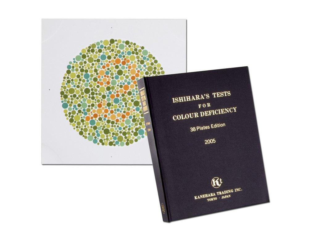 Test k určení barvocitu (varianta kniha s 24 grafy)
