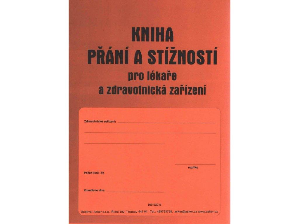 Kniha přání a stížností pro lékaře a zdrav.zařízení