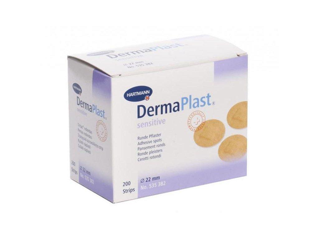 Náplast kulatá DermaPlast sensitive
