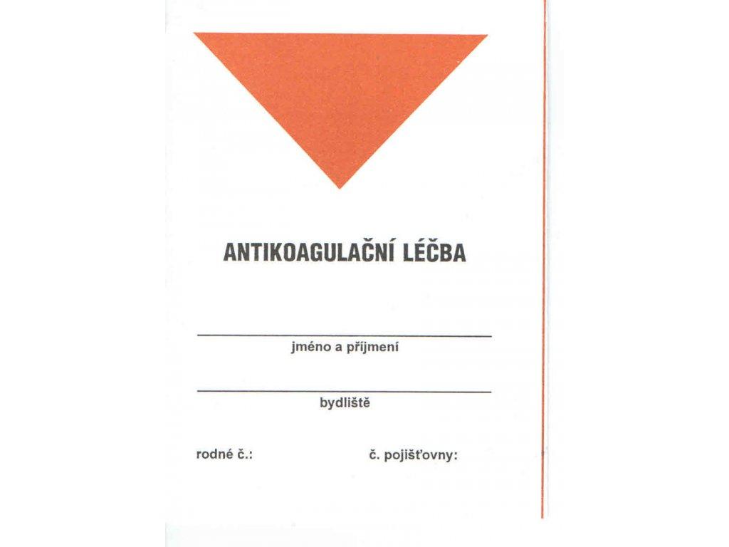 Antikoagulační léčba - leporelo, 100 ks
