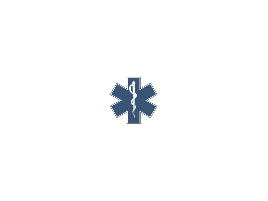 Modrá hvězda života - zdravotnický znak (varianta modrá hvězda 10 cm na sklo)