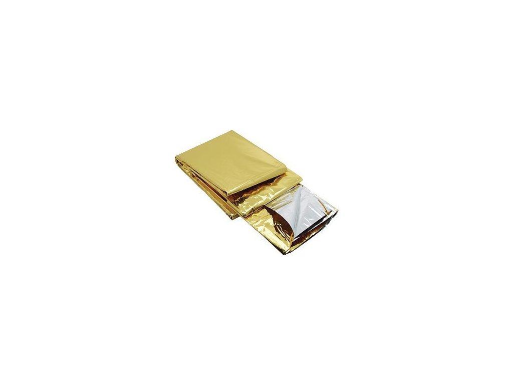 Fólie izotermická zlato-stříbrná