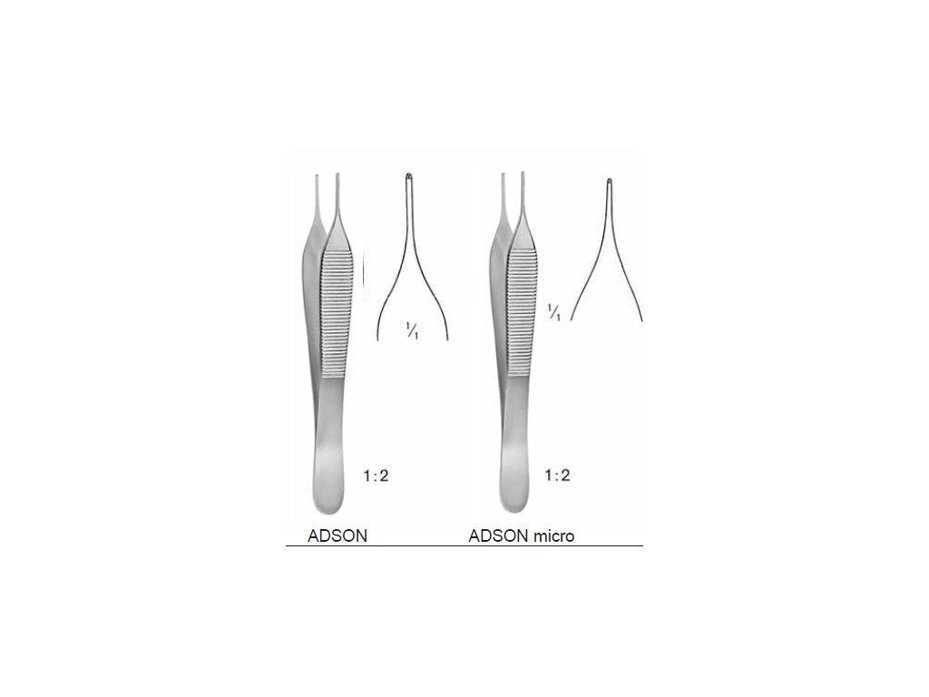 Pinzeta ADSON (varianta 12 cm micro)
