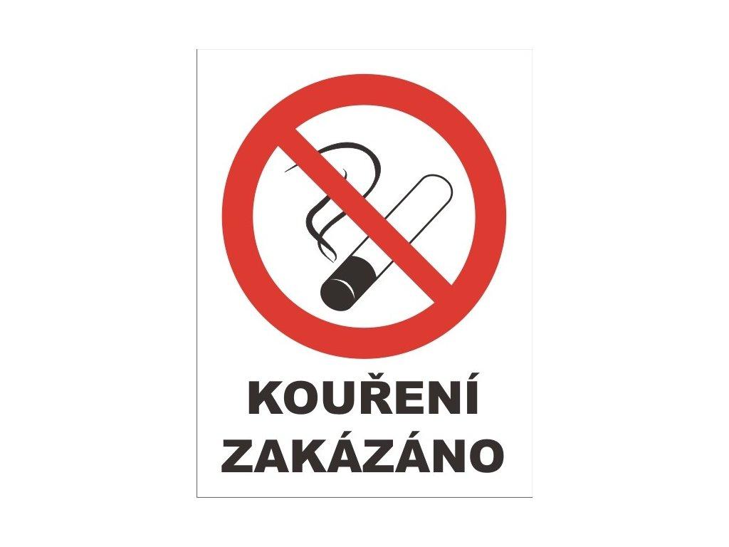 etiketa - etiketa ''Kouření zakázáno''