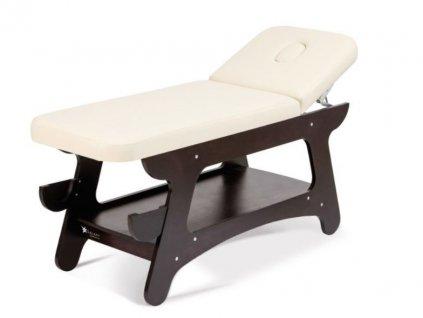 Masážní lehátko s dřevěnou konstrukcí