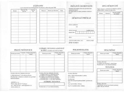 Očkovací průkaz (varianta 1148020 leprelo, 1 ks)