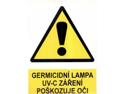 Výstražná značka -  UV-C záření