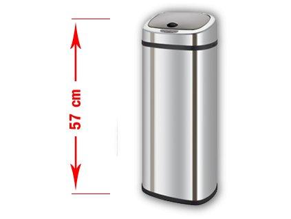 Bezdotykový odpadkový koš BRAVO (varianta BRAVO 30 l)