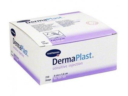 Náplast DermaPlast injekční Sensitive 4 x 1.6 cm 250 ks
