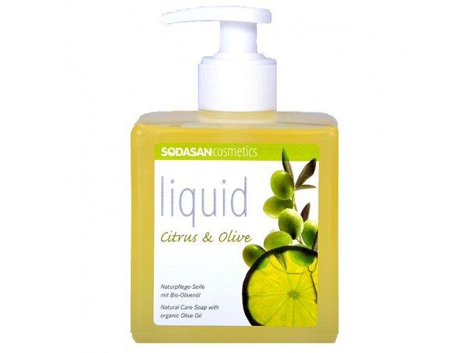Tekuté mýdlo Citron – Oliva 300 ml SODASAN
