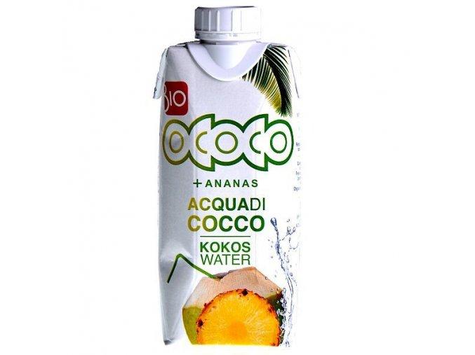 100% Kokosovo ananasová voda Bio 330ml