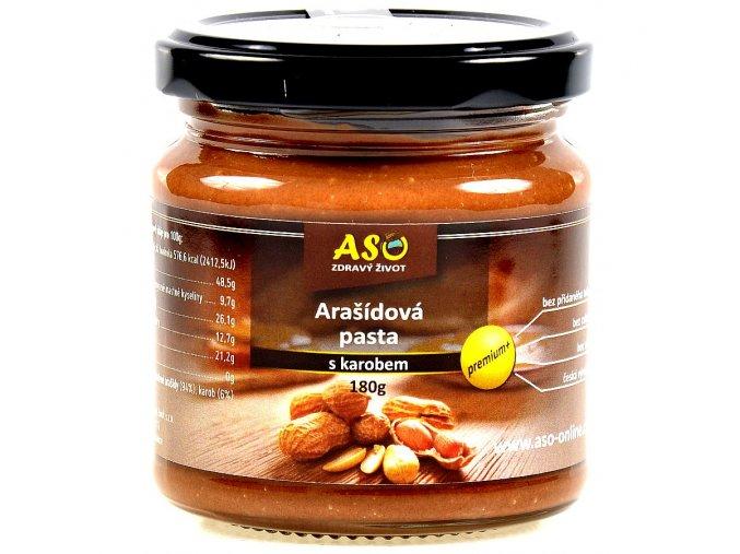 Arašídová pasta s karobem 180g