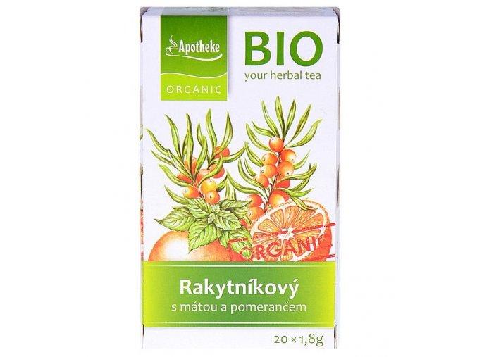 Apotheke Rakytník, máta, pomeranč čaj Bio 20x1,8g