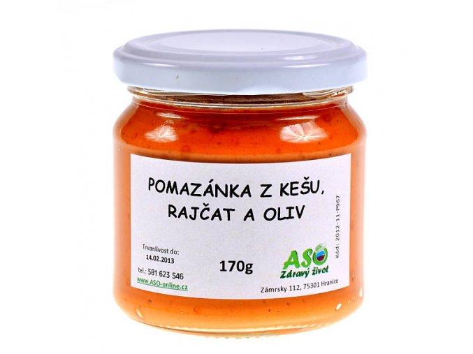 Pomazánka z kešu, rajčat, oliv 170g