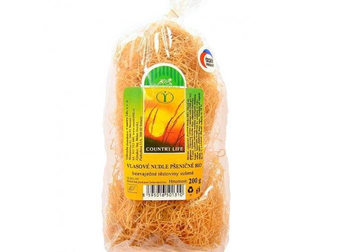 Vlasové nudle pšeničné Bio 200g