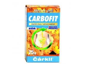 CARBOFIT aktivní rostlinné uhlí 25g