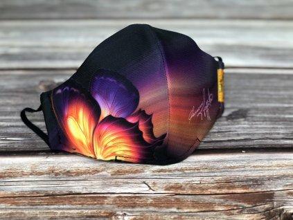 Osmany Laffita - dámská rouška Motýl