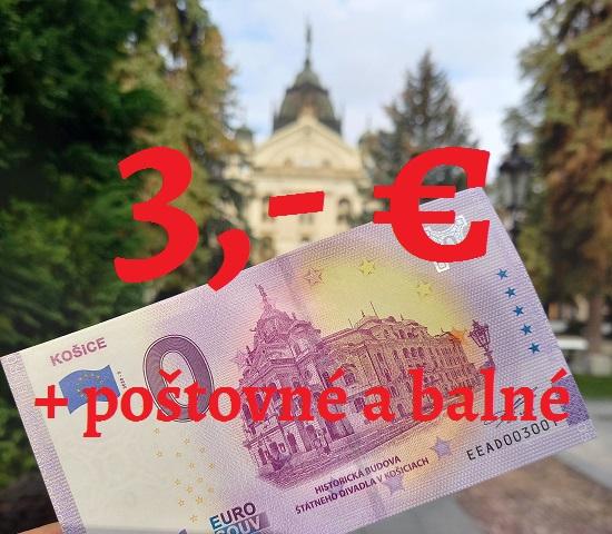 0-ová bankovka Košice - Štátne divadlo