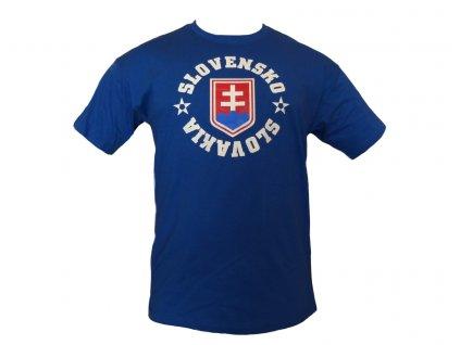 Tričko Slovakia znak s hviezdami modré