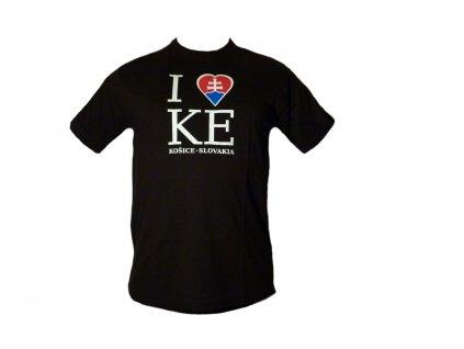 Tričko I love KE čierne