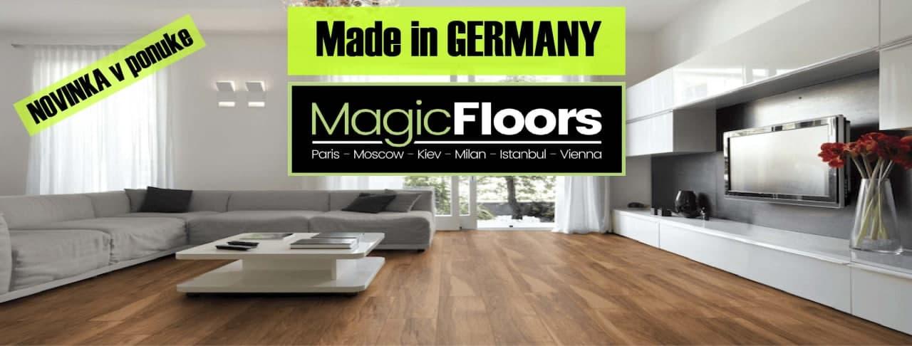 Nová laminátová podlaha, lišty a podložky pod podlahu od MAGIC FLOORS.