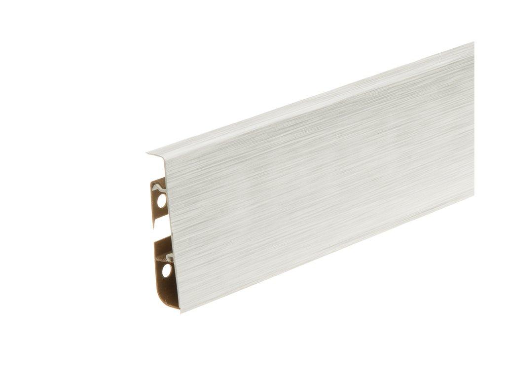 white brushed aluminium matt