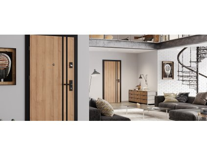 Interiérové vchodové dvere BAZALT