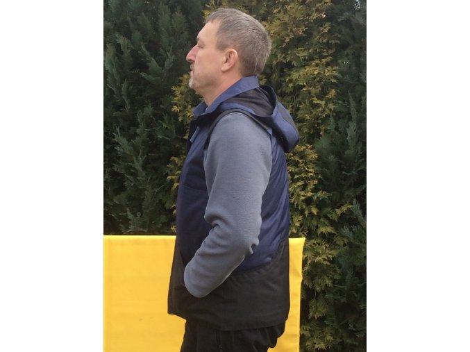 Výcviková vesta s kapucí/tmavě-modrá/nepromokavá