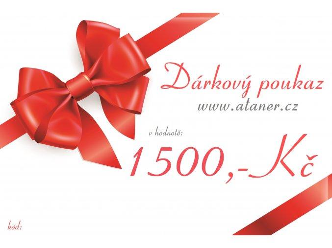 Dárkový poukaz 1500,-kč