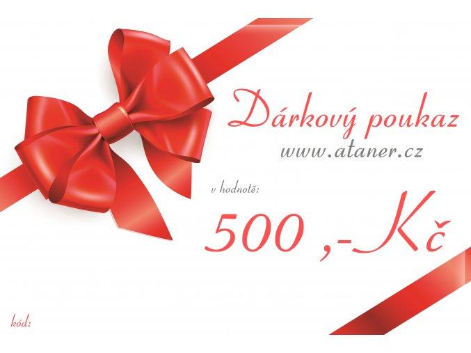 Dárkový poukaz 500,-kč
