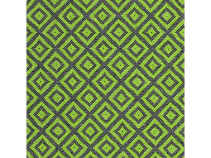 KOSOČTVEREC zelený/ŠEDÝ - ŠUSŤÁK KOČÁRKOVÝ /kočárkovina/nepromokavý HF úprava