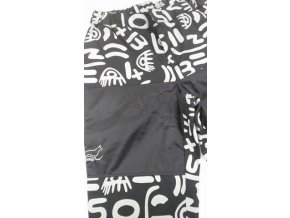 Výcvikové kalhoty šedé ornamenty
