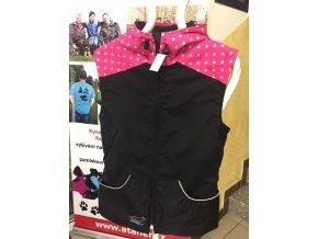 Výcviková vesta letní XS růžový puntík