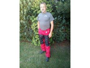 Výcvikové kalhoty se zadní kapsou červeno-černé