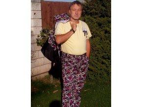 Výcvikové kalhoty Ataner/podšité (fialové)  nepromokavé