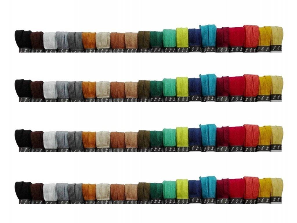 Bavlněné tkaničky - ploché