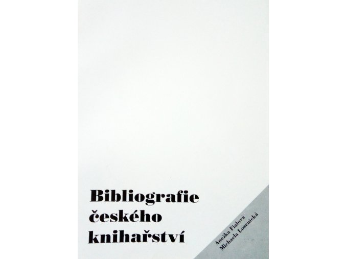 bibliografie ceskeho kniharstvi