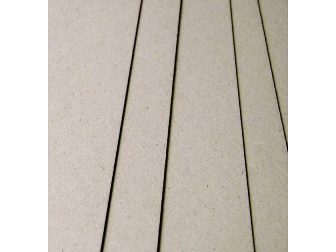 Knihárska lepenka šedá formáty