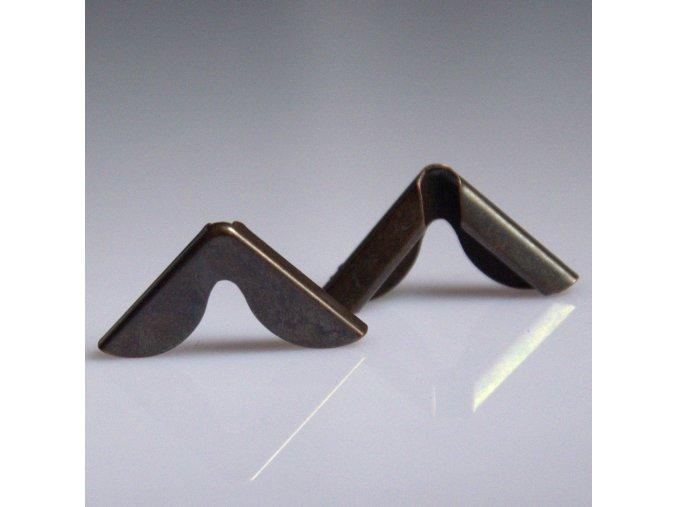 ROH 2008022,02 staromeď  15x15x2,5mm