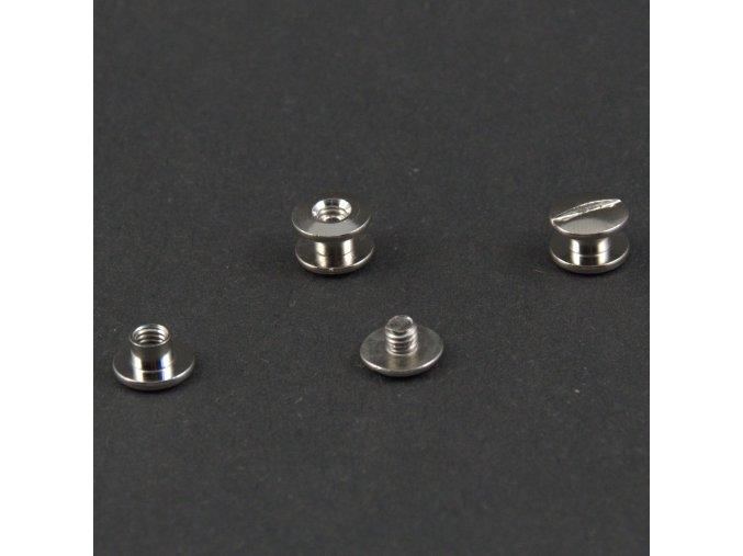 Skrutka knihárska 3 mm nikel