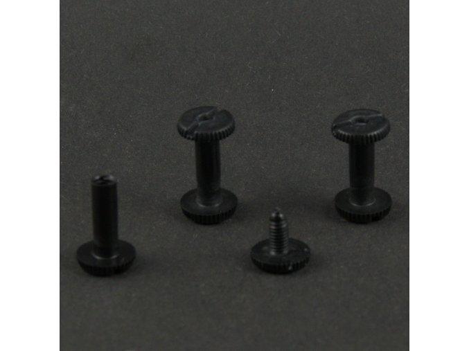 Skrutka knihárska 25mm čierny plast O1