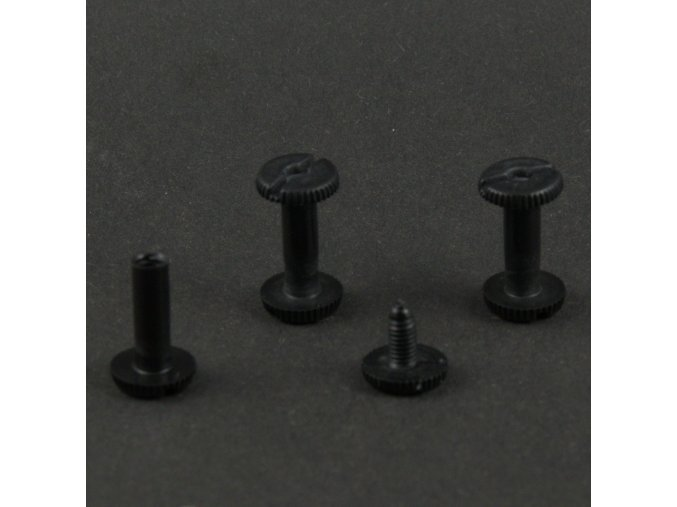 Skrutka knihárska 15mm čierny plast O1