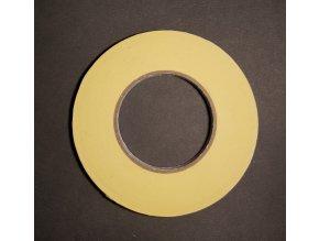 Obojstranná lepiaca páska - žltý papierový nosič, 50m. Šírka 6, 9, 12, 25mm.