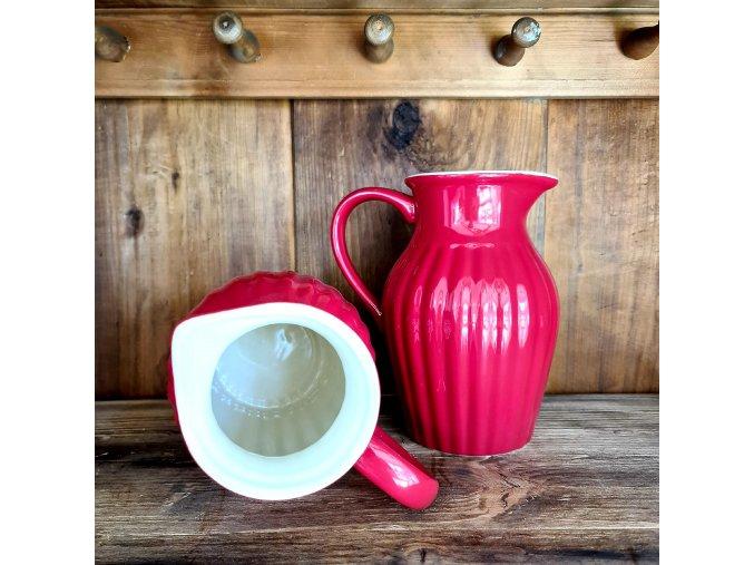 Keramický džbán - červený