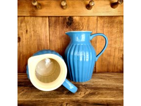 Keramický džbán - modrý