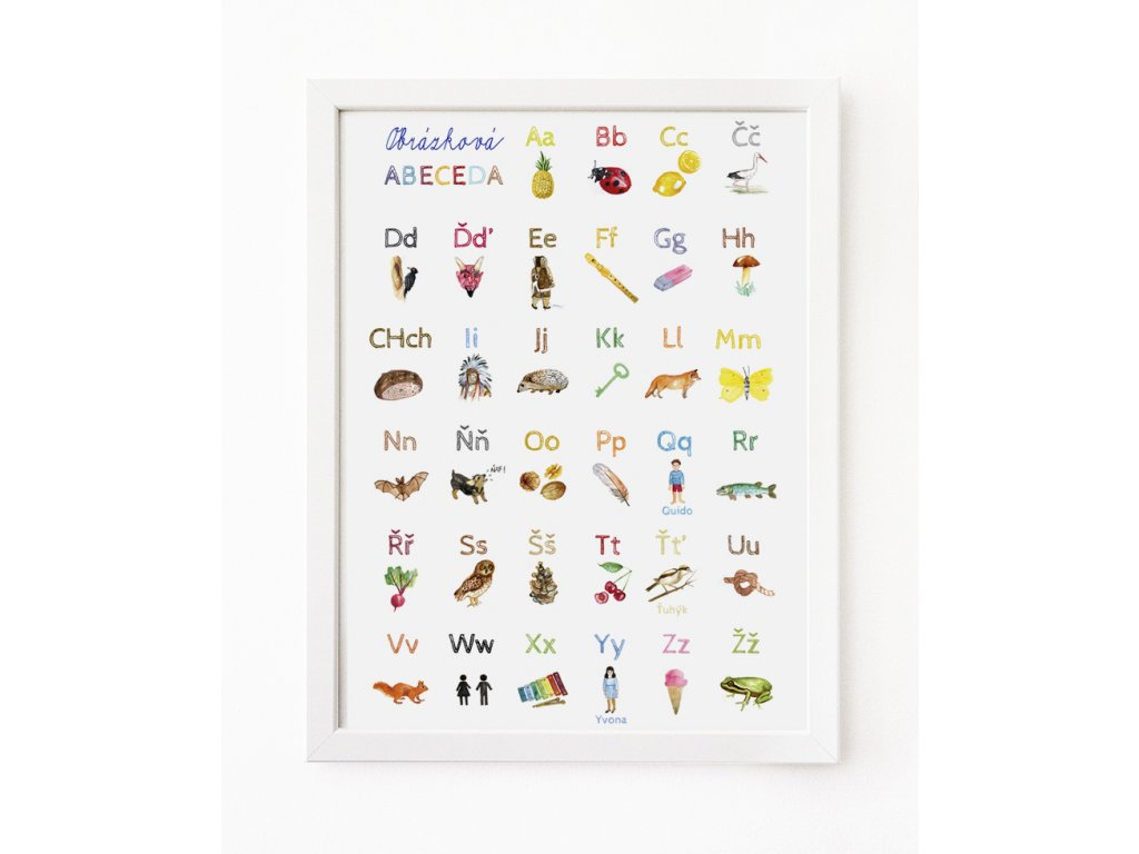 Obrázková abeceda -plakát A3