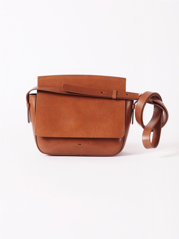 Kožená kabelka na rameno  WEEKEND MAX MARA