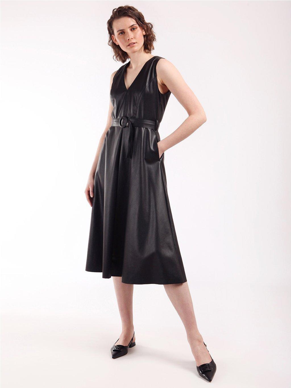 CRIZIA koženkové šaty