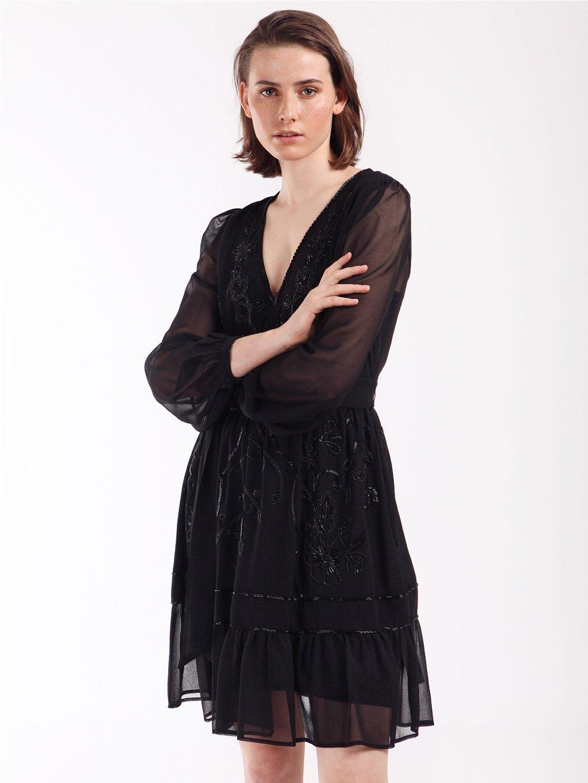 202TP236B krátké šifonové šaty