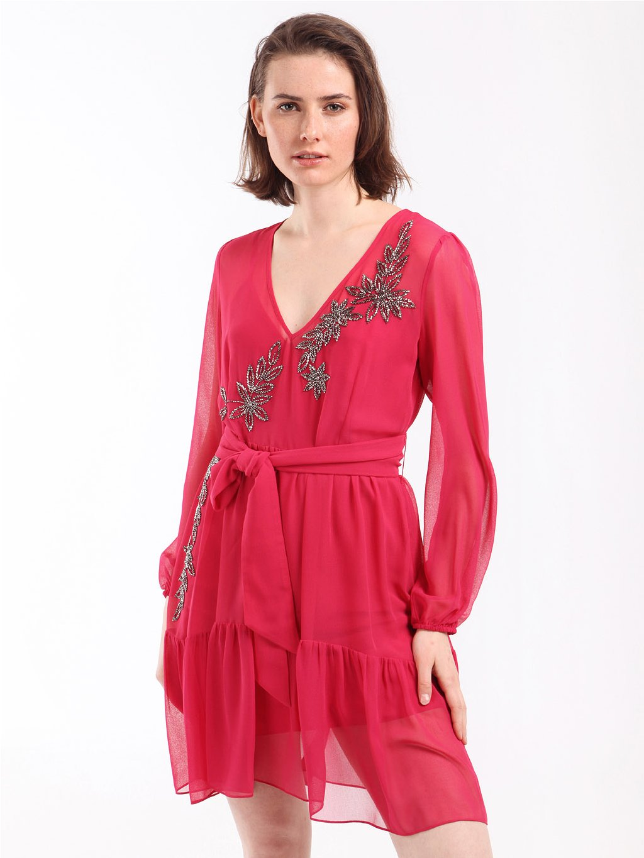 202TP2570 růžové šaty